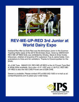 REV-ME-UP-RED Daughter at World Dairy Expo